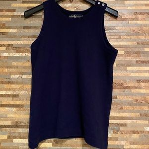 Ralph Lauren Cashmere Navy Vest Medium